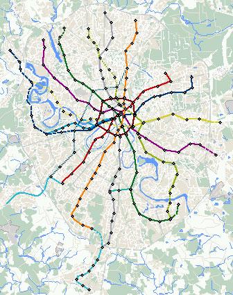Карта метро москвы печать