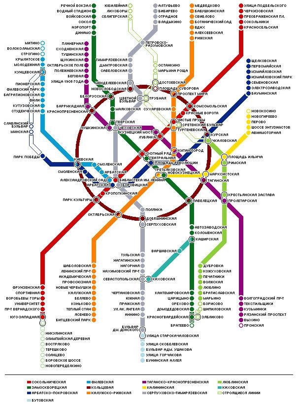 Схема метро - вещь чрезвычайно